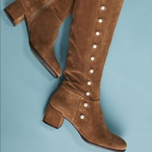Anthropologie Elysess pearl riding boots 👢🌟